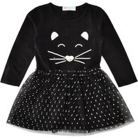 Unique Sequin Cat Design Tulle Dress for Baby and Toddler Girl