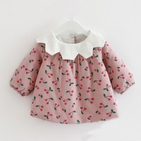 Sweet Cherry Print Cotton Coat for Baby Girl