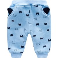 Cute Cat Print Soft Lining Pants for Baby