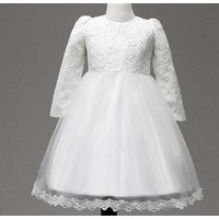 Adorable Lace Long-sleeve Dress for Baby Girls