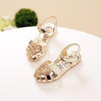 Dazzling Glitter Velcro Sandals for Toddler Girl/Girl