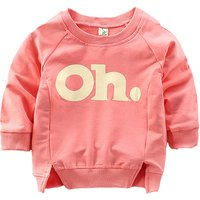 """Cute """"OH"""" Print Long-sleeve Pullover for Baby"""