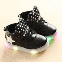 Sweet LED Dotted Velcro Shoes for Toddler and Kid