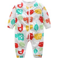 Adorable Animal and Star Pattern Jumpsuit for Babies