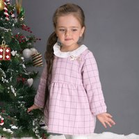 Baby and Toddler Girl's Sweet Plaid Long Sleeve Dress