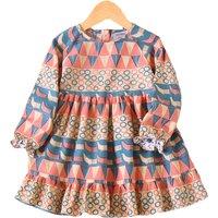 Fashion Ethnic Style Long-sleeve dress for Girls