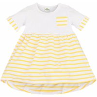 Baby Girl's Cotton Striped Nautical High-low Dress in Yellow