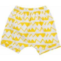 Baby/Kid's White-Bright Yellow Triangle Cotton Shorts/Bottom (Unisex)