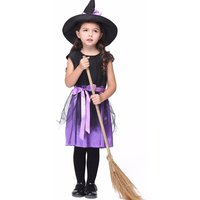 Girl's Halloween Costume Sweet Witch Dress & Hat Set (2pc-set)