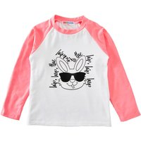 Cute Bunny Printed Long Sleeve Top Tee in Pink for Baby/Girls