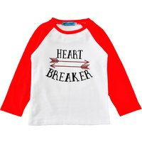 Letter Printed Long Sleeve Top Tee in Red for Baby/Toddlers
