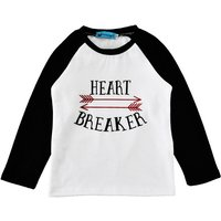 Letter Printed Long Sleeve Top Tee in Black for Baby/Toddlers