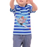 Baby Boy/Boy's Helicopter Printed Stripe T-shirt in Blue