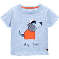 Adorable Appliqued Puppy Short Sleeve T-Shirt for Toddler Boys