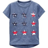 Toddler Boy's Stars Appliqued Short-Sleeve Tee in Blue