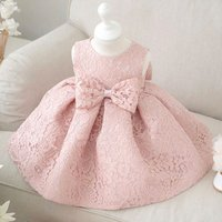 Oversize Bowknot Lace Princess Dress Party Dress for Baby and Toddler Girls