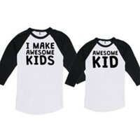 Awesome Kids Long-sleeve Coordinating Family T-shirt