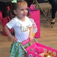 Letters Printed Short-sleeve Tee and Skirt Set for Baby and Toddler Girls