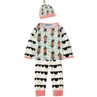 Feather Printed Long-sleeve Tee and Pants Set for Babies
