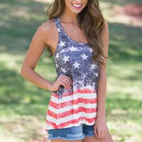 Stars and Stripes Sleeveless Mom and Me Tank Top 4th of July