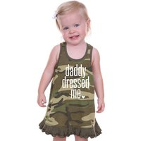 Camouflage Print Tank Dress for Baby Girls