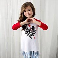 Letter Arrows Print Tassel Dress for Baby Girls