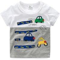 Vroom Beep Cars Applique Short-sleeve Tee for Boys