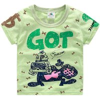 Stylish Graphic Printed Short-sleeve Tee for Baby and Toddler Boys