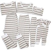 Family Matching One Piece and Set Stripes Pajamas