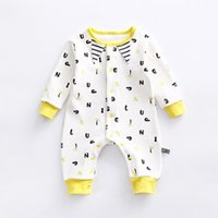 Baby's Adorable Letters Print Long Sleeve Jumpsuit