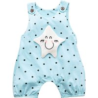 Adorable Star Applique Polka Dot Sleeveless Romper for Babies