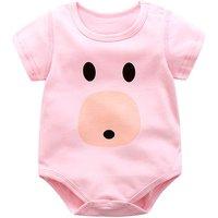 Lovely Pig Printed Short-sleeve Bodysuit for Babies