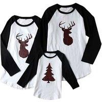 Christmas Mule Deer Raglan Long-Sleeve Shirt Family Matching
