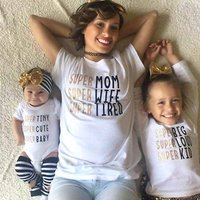Trendy Letter Printed Short Sleeve Family Matching Tee