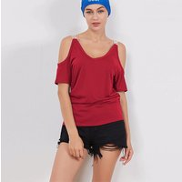 Trendy Cold-shoulder T-shirt for Women