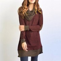 Stylish Contrast Patched Long-sleeve Top
