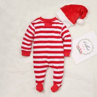 Stripes Christmas Matching Family Onesie Pajamas in Red