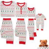 Festival Snowflake Printed Matching Family Pajamas