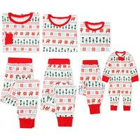 Jolly Christmas Deer Family Comfy Pajamas