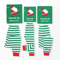 Where My Ho's At? Funny Striped Family Christmas Pajamas