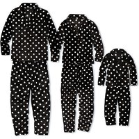 Plush and Comfy Flannel Polka Dotted Family Pajamas Sets