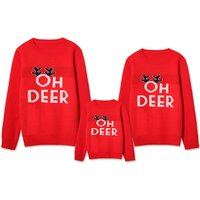 Oh Deer Festive Family Comfy Sweater