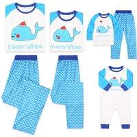 2-piece Adorable Family Whale Matching Pajamas Set