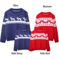 Cute Knitted Family Christmas Sweaters