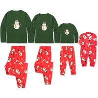 Super Cute Christmas Snowman Pattern Family Matching Pj's