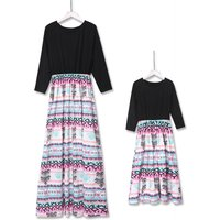 Vintage Maxi Mommy and Me Dress in Black