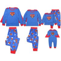 Super Family Matching Pajamas Set in Blue