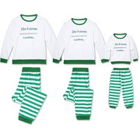 Christmas Loading Stripes Family Matching Pajamas Set