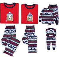 Adorable Bear Print Family Matching Pajamas Set