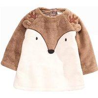 Appliqued Fox Design Plush Pullover for Toddler/Baby